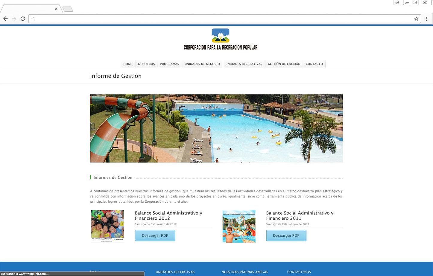 Sitio Web Corporación para la Recreación Popular - Partner ...
